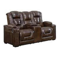 Vedder Black Top Grain Leather Power Motorized Lay Flat Reclining Sofa And Loveseat