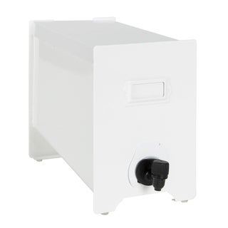 Kate and Laurel Annata Metal Boxed Wine Dispenser, White