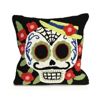 Mr. Muerto Black Pillow