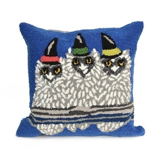 Owl-O-Ween Cobalt Pillow