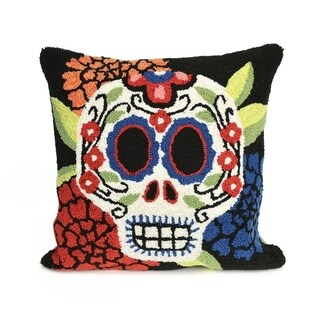 Mrs. Muerto Black Pillow