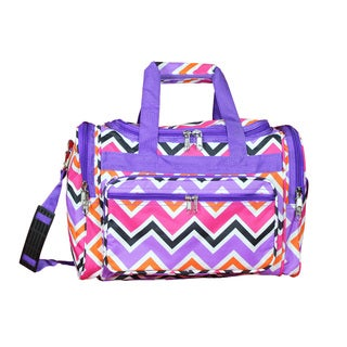 World Traveler Chevron Multicolor 16-Inch Lightweight Carry-On Duffle Bag