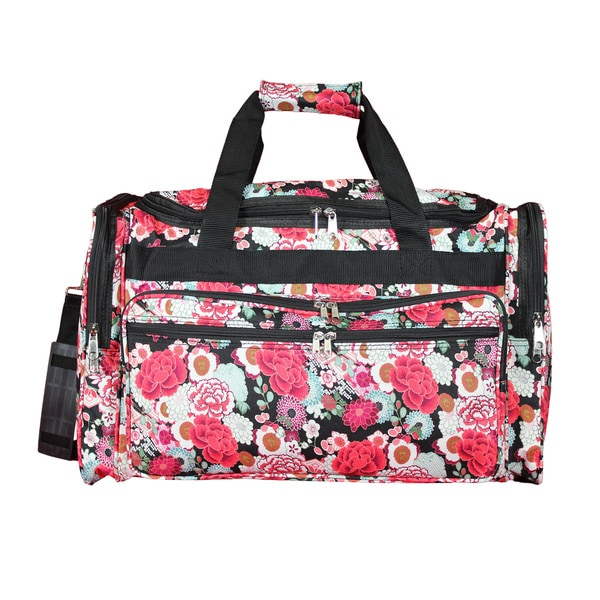 f4144c211576 World Traveler Floral 16-Inch Lightweight Carry-On Duffle Bag