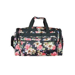 World Traveler Flower Bloom 16-Inch Lightweight Carry-On Duffle Bag