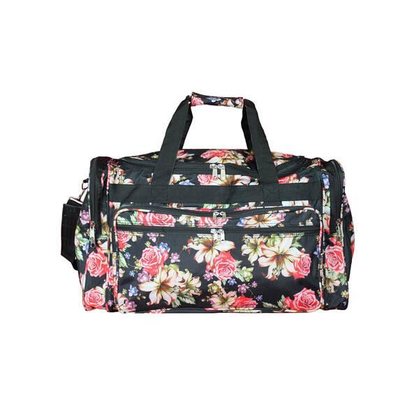 aa30941c3d87 Shop World Traveler Flower Bloom 16-Inch Lightweight Carry-On Duffle ...