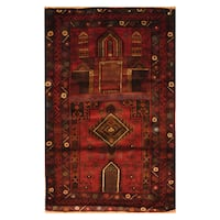 Handmade Herat Oriental Afghan Hand-knotted Tribal Balouchi Wool Area Rug  - 2'10 x 4'7 (Afghanistan)