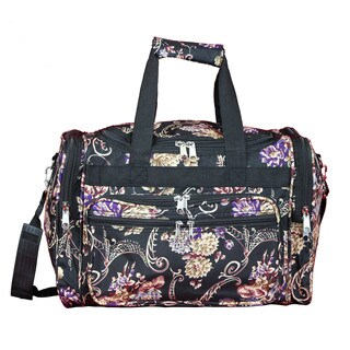 World Traveler Classic Floral 16-Inch Lightweight Carry-On Duffle Bag