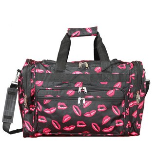 World Traveler Hot Lips 16-Inch Lightweight Carry-On Duffle Bag