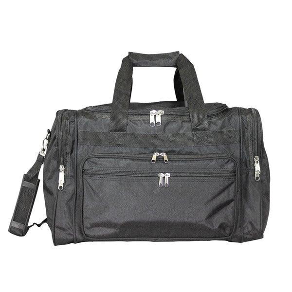 World Traveler Black 16 Inch Lightweight Carry On Duffle Bag