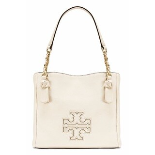 Tory Burch Harper Small New Ivory Satchel Handbag