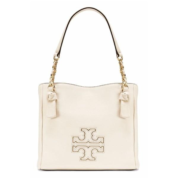 846e2809177 Shop Tory Burch Harper Small New Ivory Satchel Handbag - Free ...