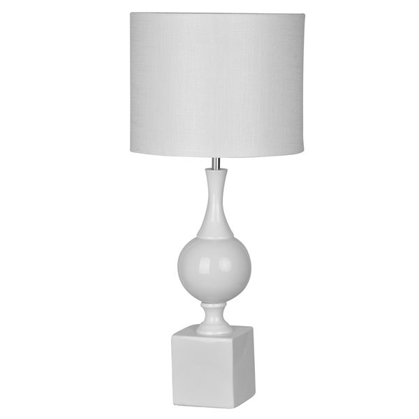 "Elliette 13x29"" White Table Lamp"