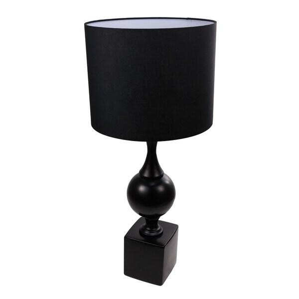 "Elliette 13x29"" Black Table Lamp"