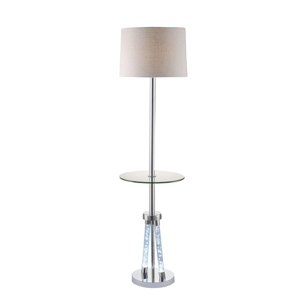Acme Cici Chrome Metal/Acrylic/Glass Floor Lamp