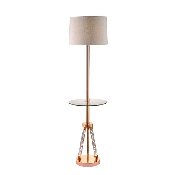 Shop Acme Cici Rose Gold Floor Lamp Free Shipping Today
