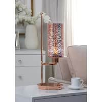 Acme Kobe Rose Gold-tone Glass/Metal Table Lamp