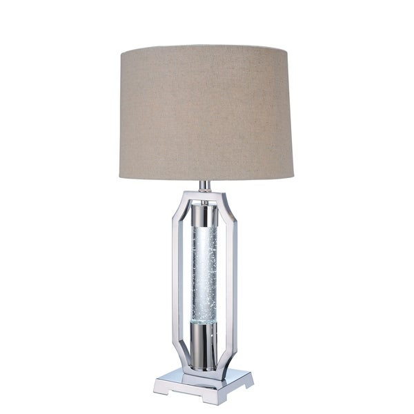 Acme Seth Chrome Metal and Glass Table Lamp