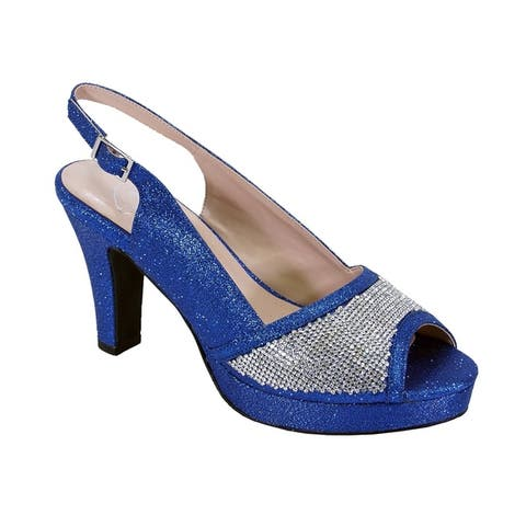 a027e0702b Buy Blue, Sling Back Women's Heels Online at Overstock | Our Best ...