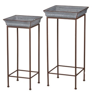 Set of two Metal plant stands