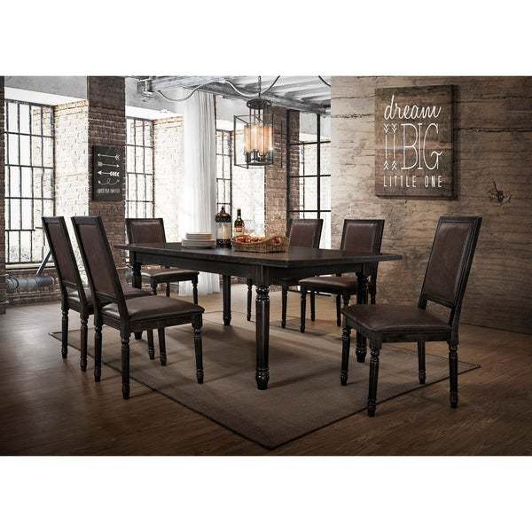 Superior Best Master Furniture Antique Black 5 Pcs Dining Set