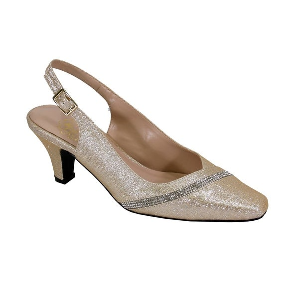 Extra Wide Width Slingback Accented