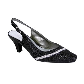 FLORAL Candice Women's Extra Wide Width Slingback Accented with Crystals