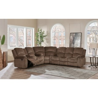 Global Furniture Coffee Brown Chenille 3-piece Sectional