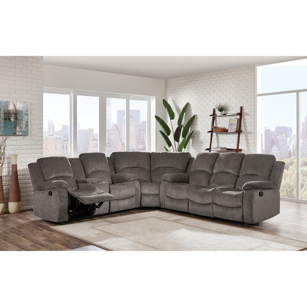 Global Furniture 3Pc Sectional Mocha