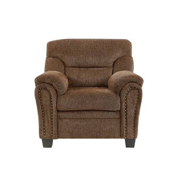 Shop Global Furniture Chair W/ Nail Head Trim Tobacco