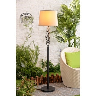"Design Craft Long Branch Bronze 59"" Outdoor Floor Lamp"