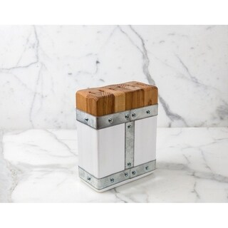 Bianca Rectangle Galvi Steak Knife Block