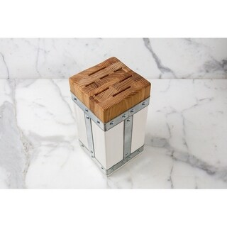 Bianca Square Galvi Knife Block