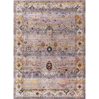 Dynamic Textiles Hancock Tan/Multicolor Area Rug (5'3 x 7'7)