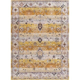 Dynamic Textiles Hancock Black/Multicolor Area Rug (5'3 x 7'7)