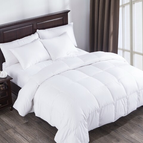 400 Thread Count Cotton Sateen Heavy Fill Goose Down Comforter