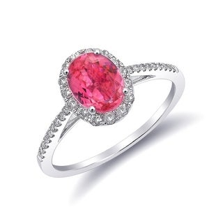14K White Gold 1.33ct TGW Tanzanian Spinel and White Diamond One-of-a-Kind Ring""