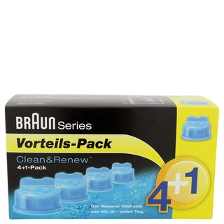 Braun Clean & Renew CCR4+1 Cleaning Cartridge (Pack of 5)