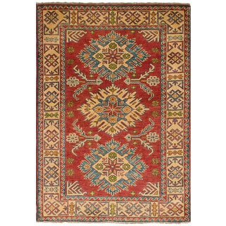 eCarpetGallery Hand-Knotted Finest Gazni Red  Wool Rug (3'3 x 4'9)