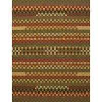 eCarpetGallery Flatweave Ankara Kilim Brown, Red Wool Kilim Rug - 8'7 x 11'1