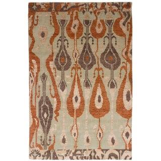 eCarpetGallery Hand-Knotted La Seda Wool Art Silk Rug