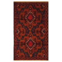 Handmade Herat Oriental Afghan Hand-knotted Tribal Balouchi Wool Rug  - 2'8 x 4'7 (Afghanistan) - 2'8 x 4'7
