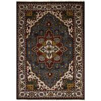 eCarpetGallery Hand-Knotted Royal Heriz Grey  Wool Rug (6'0 x 9'1)