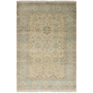 eCarpetGallery Hand-Knotted Royal Ushak Yellow Wool Rug (5'1 x 7'11)