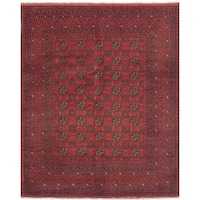 eCarpetGallery Hand-Knotted Khal Mohammadi Red  Wool Rug (5'0 x 6'6)