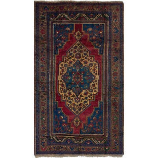 eCarpetGallery Hand-Knotted Anatolian Vintage Blue, Red Wool Rug (6'8 x 12'3)