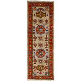 eCarpetGallery Hand-Knotted Royal Kazak Yellow Wool Rug (2'8 x 8'4)