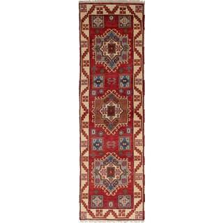 eCarpetGallery Hand-Knotted Royal Kazak Red Wool Rug (2'7 x 9'5)