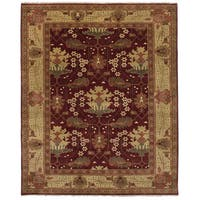 eCarpetGallery Hand-Knotted Royal Ushak Red  Wool Rug (7'10 x 9'10)