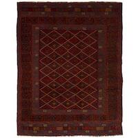 eCarpetGallery Hand-Knotted Tajik Caucasian Red  Wool Rug (4'7 x 6'0)