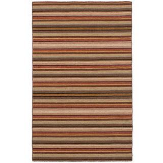 eCarpetGallery Flatweave Manhattan Brown  Wool Kilim (5'0 x 7'10)